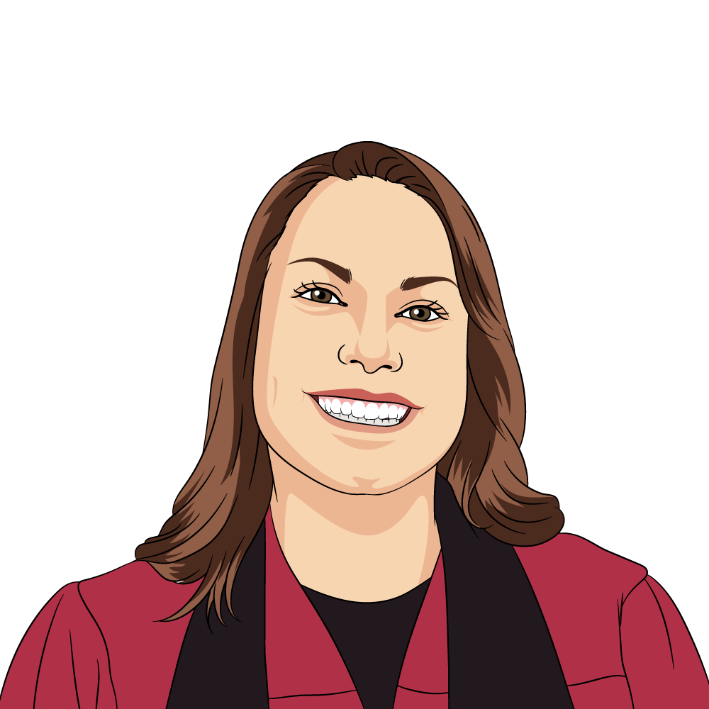 Debbie Pierce-Ward caricature
